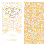 Arabesque eastern element white and gold background card template vector - 194384153