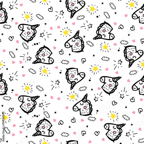 Cotton fabric Vector Seamless Pattern Doodle