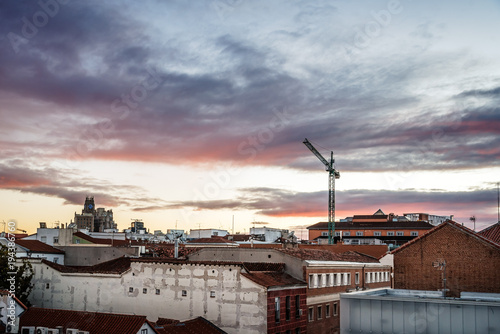 Beautiful skyline of old buildings in historic centre of city at © jjfarq