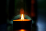 Candle in the dark room - 194392196