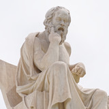 Athens Greece, Socrates the ancient philosopher statue - 194393513