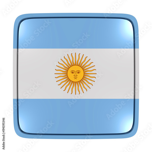 Foto op Canvas Buenos Aires Argentina flag icon