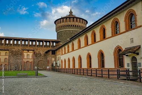 Fotobehang Milan スフォルツェスコ城