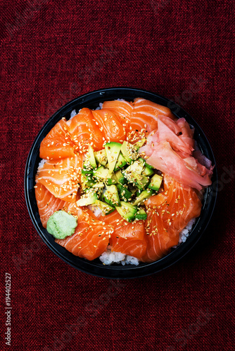 Wall mural japanese food Mix Sashimi Chirashi Rice Bowl