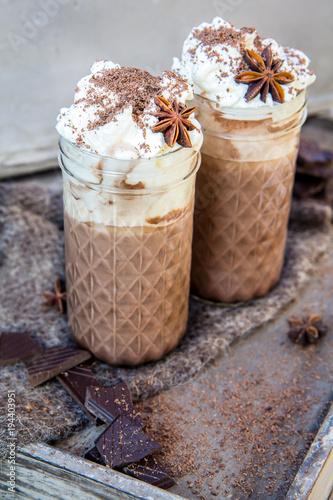 Plexiglas Chocolade Gorąca czekolada