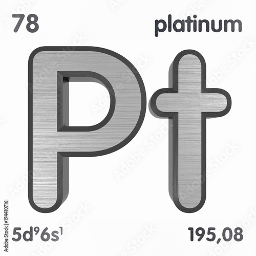 Platinum Pt Chemical Element Sign Of Periodic Table Of Elements
