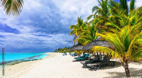 Plexiglas Freesurf Exotic tropical beaches of splendid Mauritius island