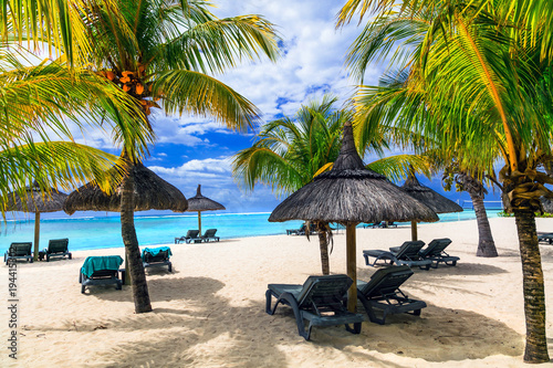 Plexiglas Freesurf relaxing tropical holidays in exotic paradise -Mauritius island