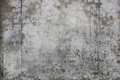 Poster Betonbehang Wet concrete texture with cracks