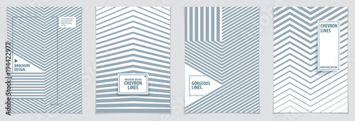 Futuristic minimal brochures graphic design templates. Vector geometric patterns abstract backgrounds set. Design templates for flyers, booklets, greeting cards, invitations and advertising.