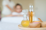 Fototapety Oils and salts used in a spa massage