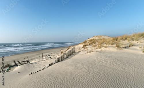 plaża Hourtin na wybrzeżu Gironde
