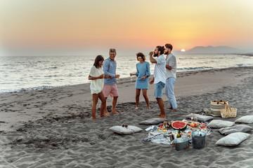 Friends Having Beach Party
