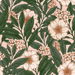 Vintage floral seamless pattern. Vintage fabric design. Vector illustration - 194439393