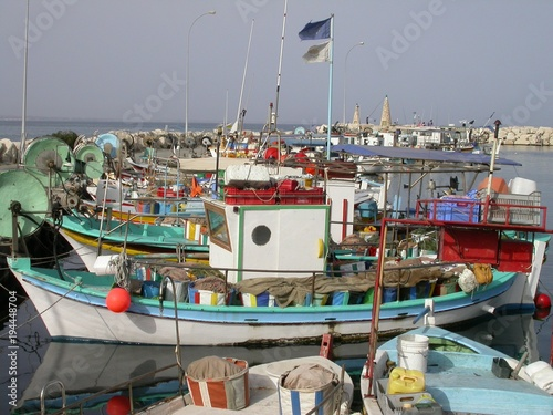 In de dag Cyprus Chypre : port traditionnel de pêche