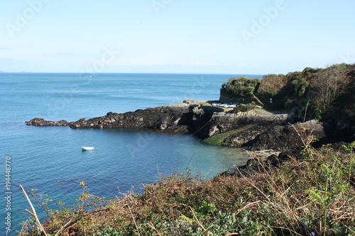 In de dag Blauw Guernsey coast
