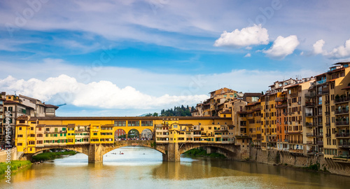 Poster Florence Gold (Ponte Vecchio) of Bridge in Florence, Italy