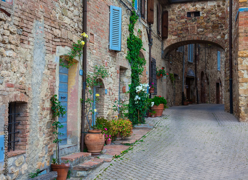 street of a small old town in Tuscany. Italy
