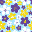 Seamless pattern with color floral ornate - 194458120