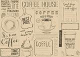 Coffee Menu Placemat - 194460197