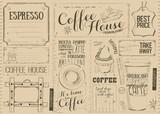 Coffee Menu Placemat - 194460517