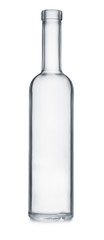 Front view of empty clear glass bottle © Coprid