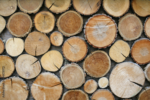 Keuken foto achterwand Brandhout textuur Wood logs background.