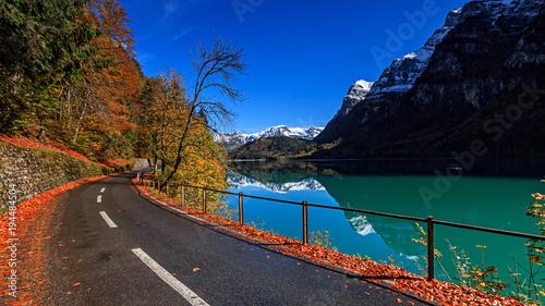 Staande foto Bergen Fall in Swiss moutains