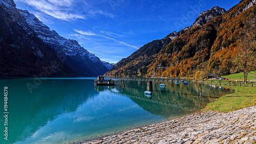 Papiers peints Bleu vert Fall in Swiss moutains