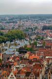 Aerial view of Bruges from Belfry, Belgium. - 194487778