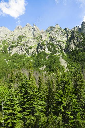 Papiers peints Bleu ciel Tatra mountains in summer