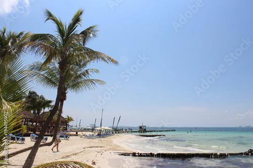 Deurstickers Tropical strand playa