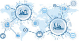 smart factory / digitalization concept: process automation and cooperation between companies - 194497367