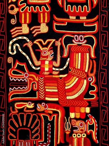 Textur von chinesisch asiatischer Wanddekoration