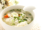 Korean food, spring onion and rice soup - 194508711