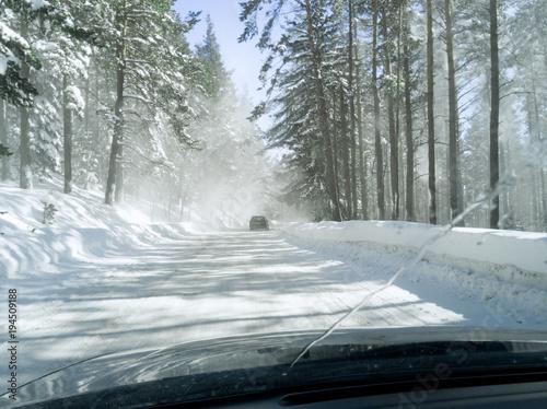 Aluminium Bleke violet Snow mountain road