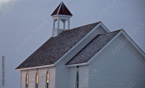 Foto op Plexiglas Canada Country Prairie Church