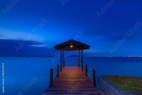 Aluminium Donkerblauw Nice Blue Hour Batam Island Indonesia