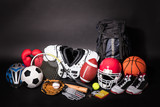 Close-up Of Various Sport Equipments - 194536736