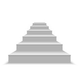 realistic blank white stairs - 194538309