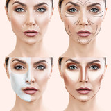 Woman step by step makes skin care procedures. - 194543914