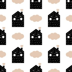 Children's seamless pattern in Scandinavian style © Juliya Lykoyanova