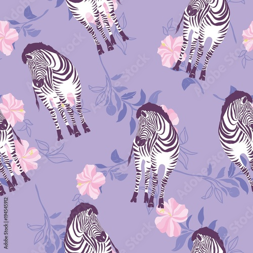 Fotobehang Purper Zebra Stripes Seamless Pattern