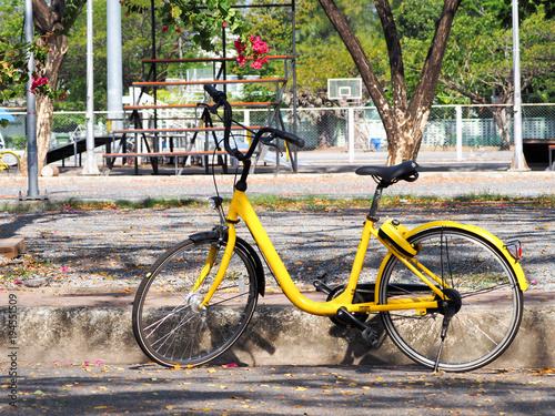 Plexiglas Fiets City bikes rent parking in Phuket Thailand