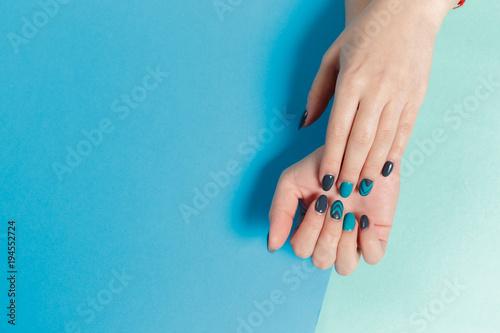 Fotobehang Manicure Stylish trendy female manicure.