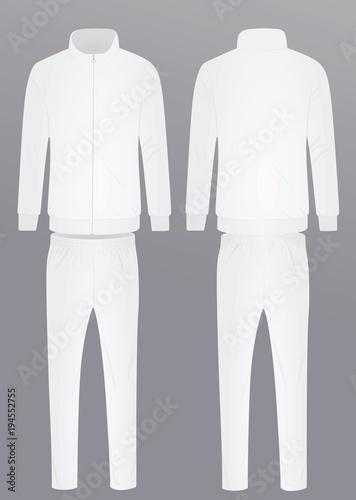 7259fbe80316 White tracksuit. vector illustration