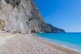 katsiki beach, deep blue sky and sea, lefkas, greece - 194555588