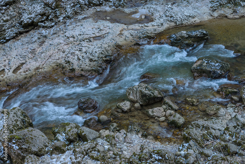 Fotobehang Bergrivier The mountain river