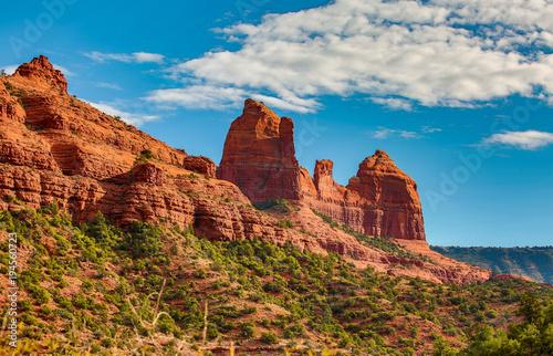 Foto op Aluminium Blauwe jeans Spiritual Sedona Arizona red rock formations blue sky beauty