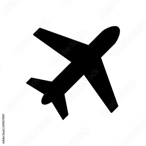 Fototapeta samolot ikona